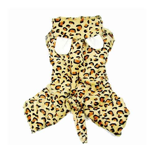 Kostüm Leopard Dog - XGPT Katzen Hund Kostüm Jumpsuit Hundekleidung Leopard Tiger Stil Kostüm Für Haustiere Männer Frauen Niedlichen Urlaub Cosplay Halloween,Leopard,S