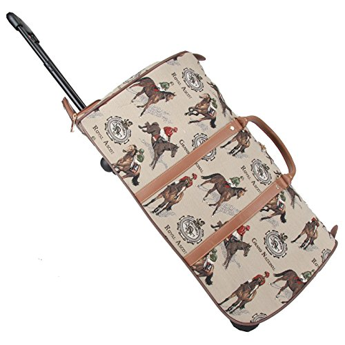 signare-tapestry-wheeled-holdall-pull-along-luggage-in-vintage-racing-design