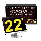 C1st 22 Zoll 16:10 Displayschutz Displayfilter Blickschutzfilter Sichtschutz Sichtschutzfolie 18 11/16