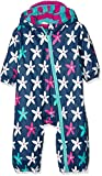 Hatley Mini Rain Bundlers, Manteau Imperméable Bébé Fille, Blue (Starflower), 24 Mois