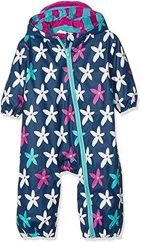 Hatley Baby - Mädchen Regenmantel Gr. 12-18 Monate, Blue (Starflower)