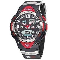 Men's watches/100u.s. waterproofing,outdoor sports,running,countdown,luminous,alarm clock,multifunctional electronic watches-D