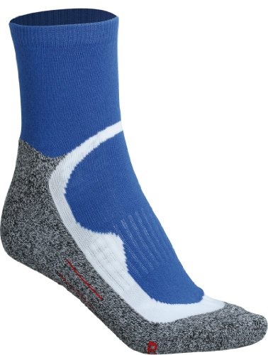 James & Nicholson - Sport Socks Short, Calze Unisex - Adulto Blu (royal)