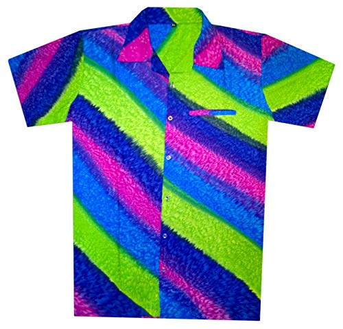 Virgin Crafts Hawaiische Hemden für Männer Rainbow Holiday Party Casual Strand Sommer Hemden