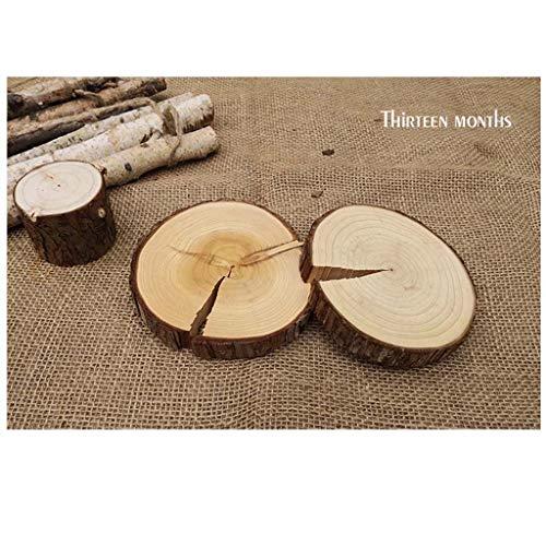 Mankvis 5pcs 6-17CM Wood Log Slices Discs Holzhandwerk Verschönerung für Heimwerkerei Hochzeits-Mittelstücke,D(17CM)