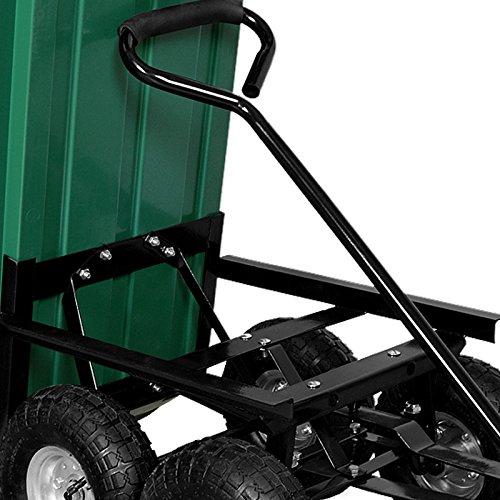 Deuba® Gartenkarre aus Kunststoff | Kippfunktion | Lenkachse | Luftreifen - Transportwagen Bollerwagen Muldenkipper Kippwagen Transportkarre Gartenwagen - 4