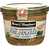 Avon & Ragobert Terrine de Foie de Volaille aux Raisins 180 g - Lot de 4
