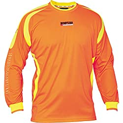 Derbystar Torwarttrikot Aponi - Camiseta de portero de fútbol para niño, color naranja, talla 8 años (128 cm)