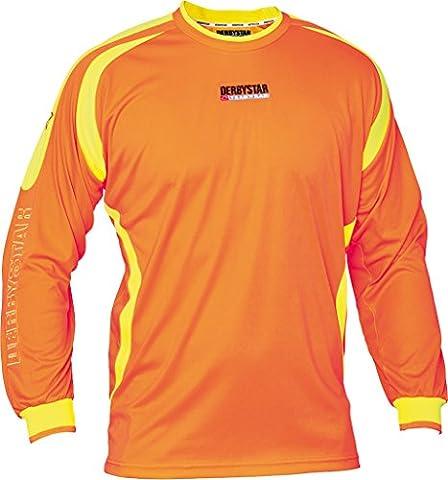 Derbystar Torwarttrikot Aponi, 164, orange gelb,