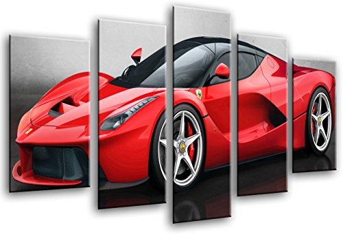 tableau-moderne-fotografico-voiture-de-sport-ferrari-rouge-165x-62cm-rf-26436