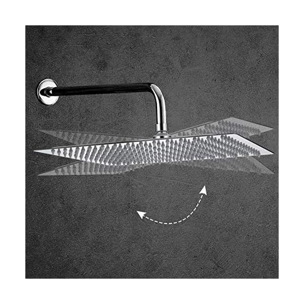 Baban-Soffione-docciaSoffione-cromato-Acciaio-inossidabile-in-acciaio-inox-304-in-acciaio-inox-superiore-Disegno-8-pollici-piazza-5-anni-di-garanziasolo-soffioni