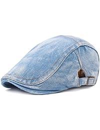 Leisial Sombrero de Boina Vaquera Gorra con Visera Casquillo Vintage  Sencilla Ocio al Aire Libre Sombrero del Sol… 30fe1741ebb