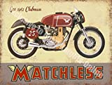 Matchless G50 Clubman Motorcycle Vintage Garage Large Metal/Steel Wall Sign