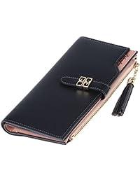 Rrimin Fashion Women PU Leather Long Wallet Women Card Holder Purse Handbag