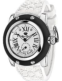 Glam Rock Damen Miami 46mm Weiß Silikon Band Stahl Fall Swiss Quarz silberfarbenes Zifferblatt Armbanduhr gr30015bw