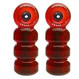VentroPro Rollen-Set Turbo62 für Rollschuhe, inkl. Kugellager rot rot