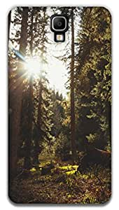 The Racoon Lean printed designer hard back mobile phone case cover for Samsung Galaxy Note 3 Neo. (forest sun)
