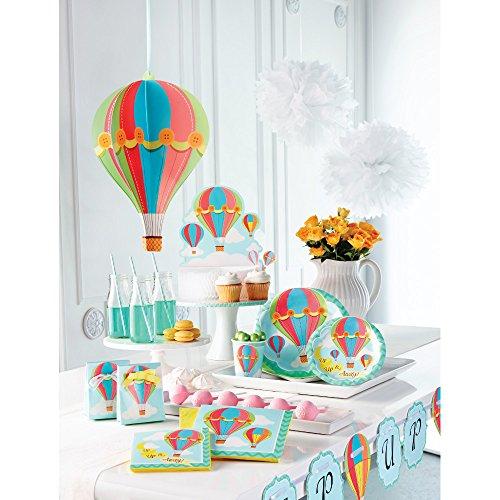 Tovaglia da tavola tema mongolfiera addobbo festa for Addobbi per feste in piscina
