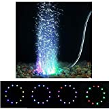 Jainsons Pet Products Submersible Aquarium Light Underwater LED Lighting Color Changing Mode Round Shape (LED Q12)