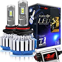 Win Power CREE LED Headlight Bulbs All-in-One Conversion Kit - 9012 (HIR2)-7,200Lm 70W 6000K Cool White - Pack of 2