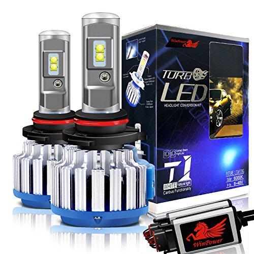 WinPower Hir2 / 9012 LED Lampadine per fari Tutto in uno Kit di conversione 70W 7200 lumen 6000K Bianco freddo, 2 Pezzi