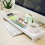 ducomi® Palo Alto–Organizer für Schreibtisch aus Holz weiß–137x 30x 5,5cm