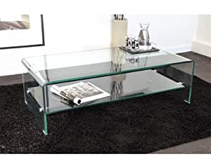 table basse rectangulaire swithome tera verre transparent cuisine maison. Black Bedroom Furniture Sets. Home Design Ideas