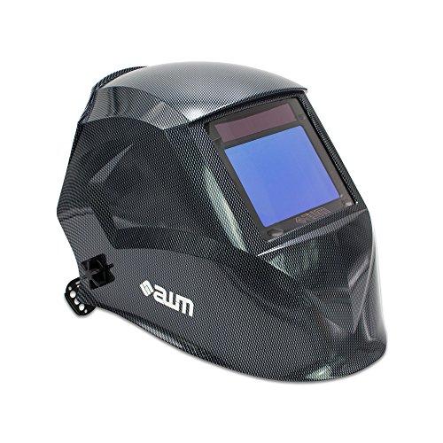 awm® WH03C Automatik Schweißhelm Schweißschirm Carbon Schweißmaske Solar Schweißbrille *Sichtfeld 100 x 73 mm - X-schwer Carbon Entflammbar