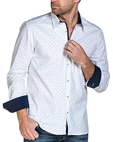 BLZ jeans - Chemise homme blanche motifs Pi imprimé Blanc