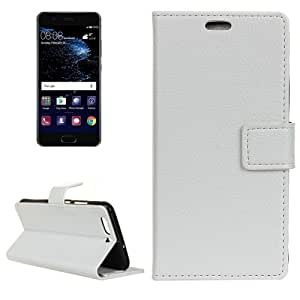 Crazy4Gadget Huawei P10 Plus Litchi Texture Horizontal Flip Leather Case with Holder & Card Slots & Wallet & Photo Frame(White)