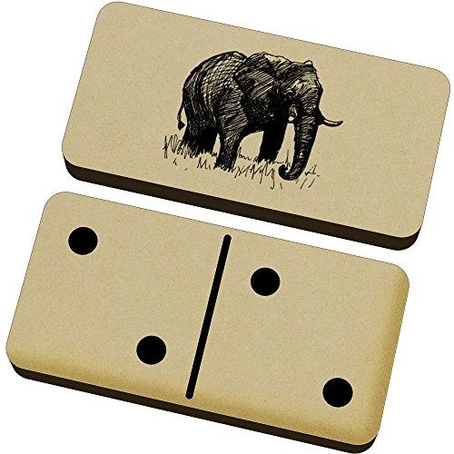 Azeeda 'Elefante' Domino Juego y Caja (DM00005184)