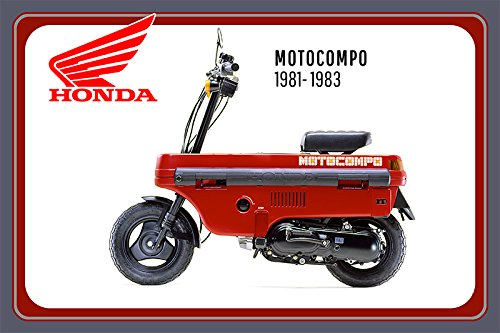 Honda Motocompo 1981-1983 motorrad, motor bike, motorcycle blechschild (Honda Motorrad Blechschild)