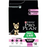 Pro Plan Dog Small and Mini Puppy Sensitive Skin, Reich an Lachs, Trockenfutter Beutel, 12 kg Packung mit 4 Stück