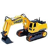 HKFV RC Bulldozer, Model Free Wheeler Die Cast BAU Spielzeug RC Car 1:24 Scale Fernbagger-BAU-LKW-Spielzeug