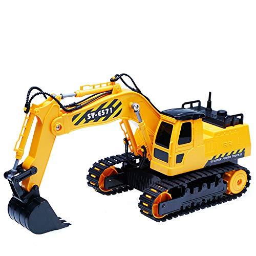 HKFV RC Bulldozer, Model Free Wheeler Die Cast BAU Spielzeug RC Car 1:24 Scale Fernbagger-BAU-LKW-Spielzeug*