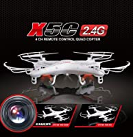 New Version Syma X5 2.4G 6 Axis GYRO HD Camera RC Quadcopter RTF RC Helicopter with 2.0MP Camera + Extra 3 Pcs 500mA Batteries As Free Gift By Tiny Direct Deal