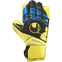 Uhlsport Hombre Speed Up Soft Pro – Guantes de Portero, Hombre, Speed Up Soft Pro, Lite Fluo Gelb/Schwarz