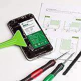 GIGA Fixxoo kompatibel mit iPhone 4s Lithium-Ionen Akku Austausch-Set mit Bildanleitung zum Selbermachen; Komplettes Werkzeug Set zur Schnellen & Einfachen Reparatur