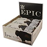 Epic All Natural Meat Bar, 100% Grass Fed, Bison, Bacon and Cranberry, 1.5 ounce bar, 12 count by Epic by Epic