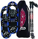 Redfeather Herren Hike Recreational Series Schneeschuh Kit mit SV2Bindungen, Skistöcke und Tragetasche, 1.500, Uni, multi