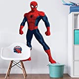 Extra Large Marvel Comics Spiderman Character Life Size Wall Art Big Mural Wallpaper Sticker Decal Decor Picture Poster Decoration