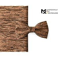 MAY-TIE Herren Fliege | Holz- Braun | 100% Kork | Style | gebunden und stufenlos verstellbar mit Hakenverschluss | hergestellt in Deutschland