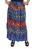 Indiatrendzs Women's Skirts Cotton Blue ...