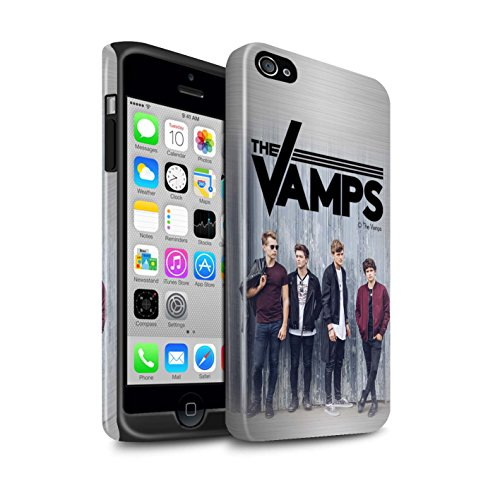 Offiziell The Vamps Hülle / Glanz Harten Stoßfest Case für Apple iPhone 4/4S / Pack 6pcs Muster / The Vamps Fotoshoot Kollektion Gebürstetes