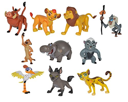 Disney 9318725 Kit de Figura de Juguete para niños Niño/niña 10 Pieza(s) - Kits de Figuras de Juguete para niños, Niño/niña, Dibujos Animados, Animales, La Guardia del León, Caja con Ventana