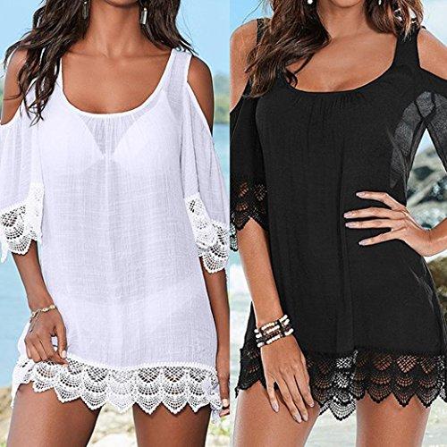 DIKEWANG Ladies Beach Bikini Covers, Trendy Sexy Women's Summer Cover-ups Kimono Swimwear Beachwear