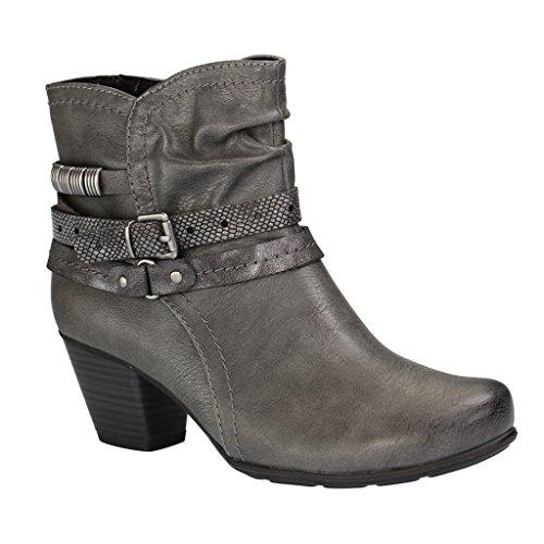 Softline signore Boots 8-25360-206 grafite (206GRAPHITE)