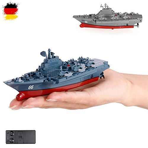 HSP Himoto RC ferngesteuertes Mini Kriegsschiff, Flugzeugträger, Schlachtschiff, Schiff, Boot, Komplett-Set inkl. integr. Akku, Fernsteuerung,, OVP