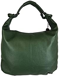 07f0ea500f9b2 FG Borsa da donna a spalla a sacca in vera pelle Made in Italy