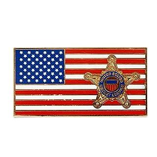 United States USA Stars & Stripes Country Flag Crest Badge New